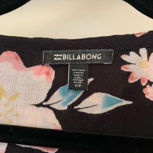 Billabong Tops - Billabong Birds on High Tie Neck Blouse